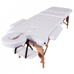 Massage Imperial® Chalfont Table de Massage Reiki Légere - Blanc Ivoire - Table à 3 Zones 14Kg.