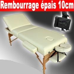 Table de massage Pliante 3 Zones Epqisseur 13 cm + Housse